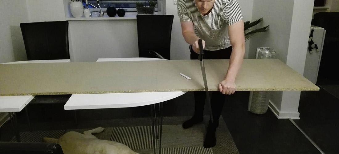DIY sengegavl / headboard - process trin 1